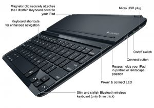 Logitech Ultrathin iPad Air Keyboard Cover - Detailed